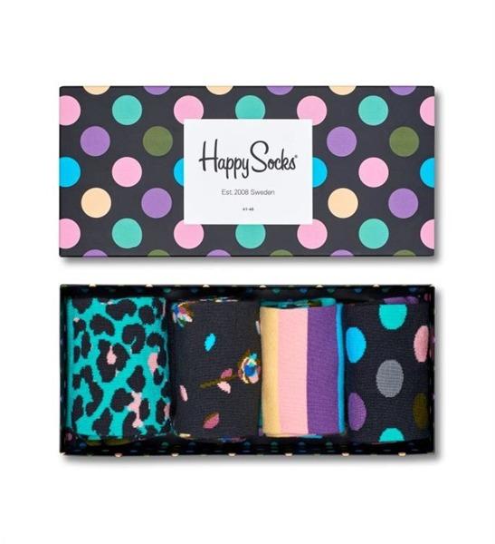 Giftbox (4-pak) skarpetki Happy Socks XSTR09-7000